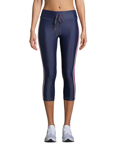 Sarafina NYC Side-Stripe Cropped Leggings
