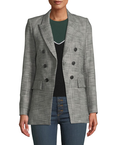 Fortuna Check Single-Button Dickey Jacket