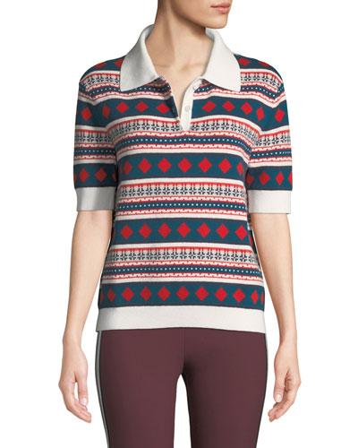 Printed Short-Sleeve Polo Shirt
