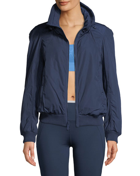 8e43ff87400a adidas by Stella McCartney Padded Zip-Front Short Training Jacket