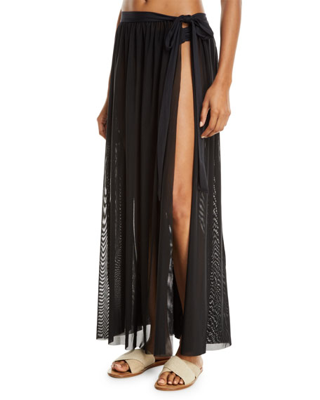 Jets By Jessika Allen ASPIRE MESH WRAP COVERUP SKIRT