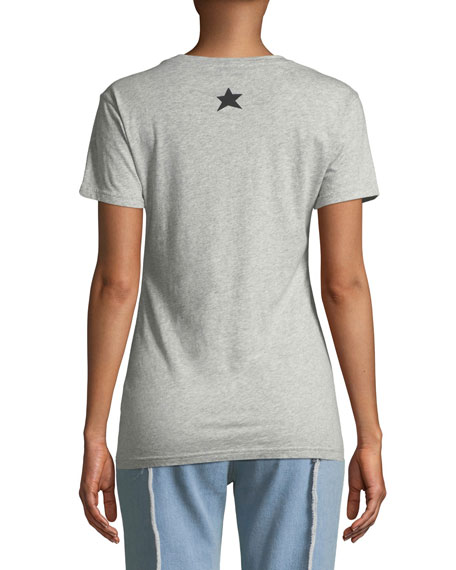 French Women Typographic Crewneck T-Shirt