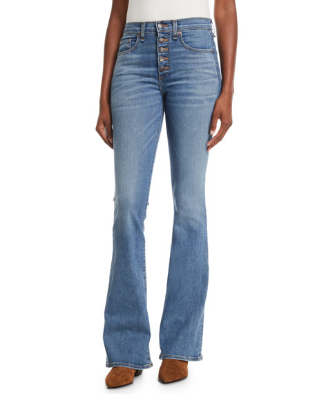 BEVERLY SKINNY FLARE JEANS W/ BUTTON FLY