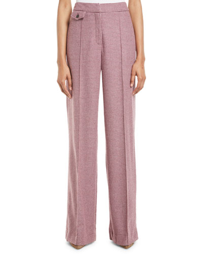 Jewell High-Rise Houndstooth Pants