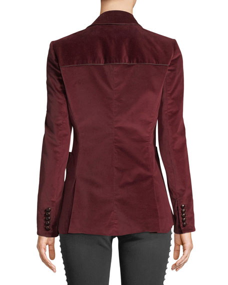 Rosalie One-Button Corduroy Blazer