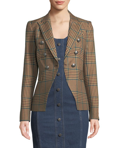 Miller Single-Button Plaid Jacket