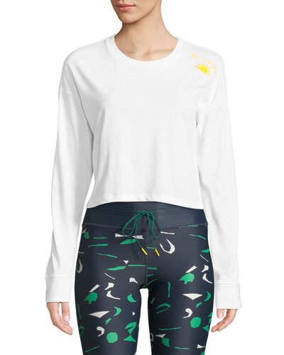 Rise And Shine Long-Sleeve Crop Top