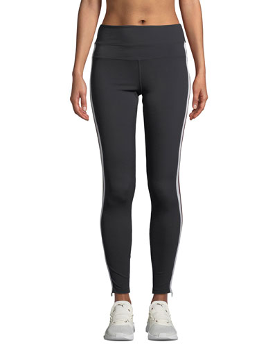 Side-Stripe High-Waist Activewear Track Tights