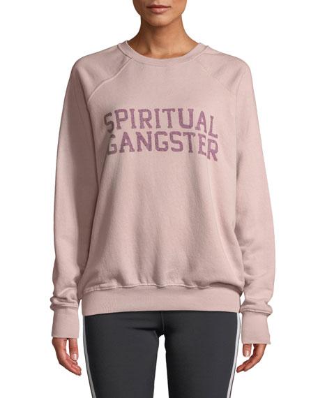 Spiritual Gangster VARSITY CLASSIC GRAPHIC CREWNECK SWEATSHIRT