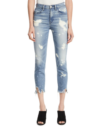 W4 Colette Slim Crop Bleached Jeans