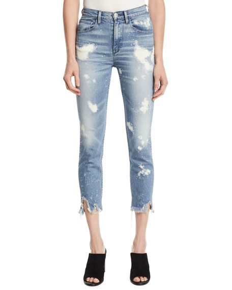 3X1 W4 COLETTE BLEACHED CROP SKINNY JEANS