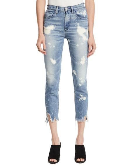W4 Colette Bleached Crop Skinny Jeans, Highlands Hlnds