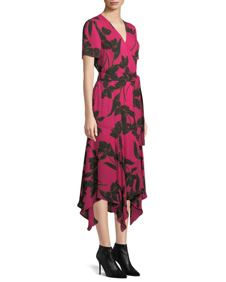 d034d54ad8ab A.L.C. Cora Floral-Print Silk Midi Wrap Dress