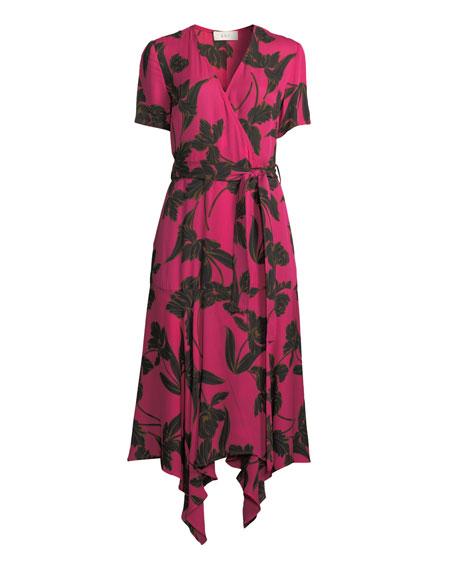 9671e31790 A.L.C. Cora Floral-Print Silk Midi Wrap Dress