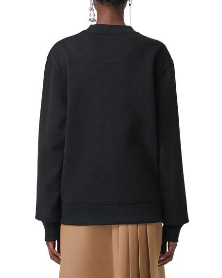 Archive-Print Panel Sweatshirt