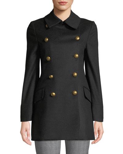 Short Military Wool Coat
