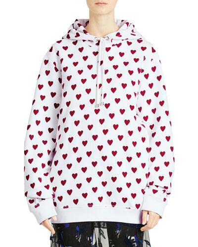 Heart-Print Hoodie