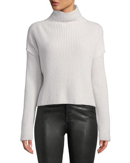 Vassar Ribbed Wool Turtleneck Sweater