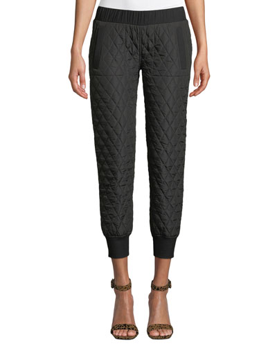Quilted Pull-On Jogger Pants