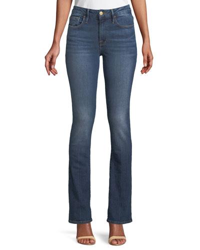 Le Mini Boot-Cut Skinny Jeans