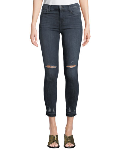Alana Cropped High-Rise Distressed Skinny Jeans