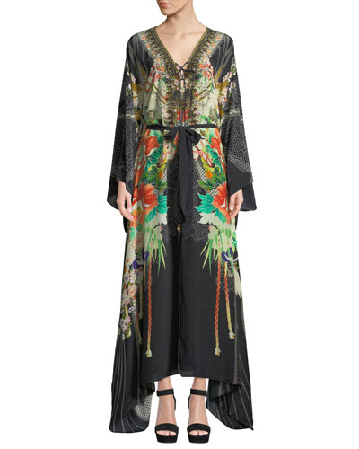 Queen Of Kings Embellished Floral Maxi Dress