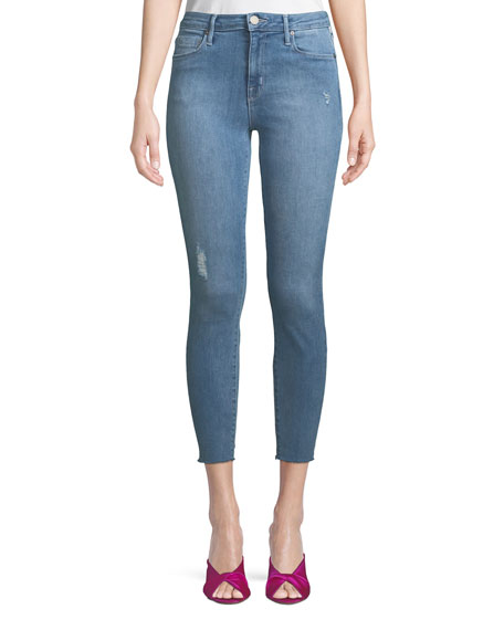 PARKER SMITH BOMBSHELL CROPPED SKINNY JEANS WITH LIGHT DISTRESSING
