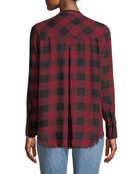 Redding Frayed Plaid Button-Front Shirt