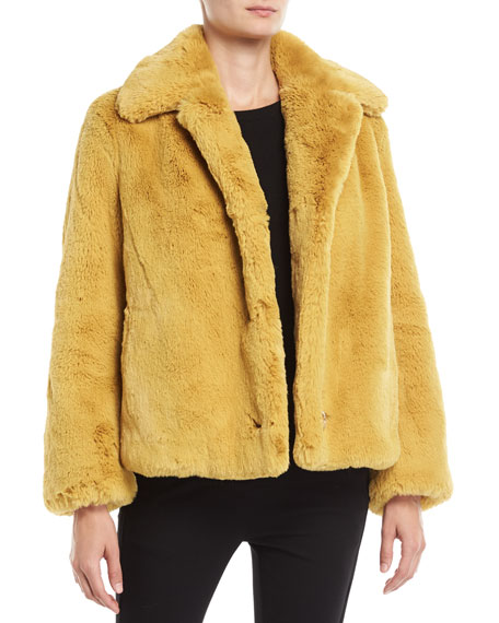 Burberry Alnswick Faux-Fur Chubby Coat