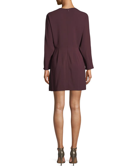 Marin Long-Sleeve Cowl-Neck Dress