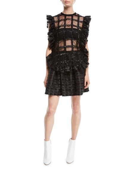 Textured Shimmer Mini Skirt