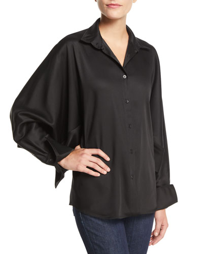 Solo Point-Collar Twill Button-Front Shirt