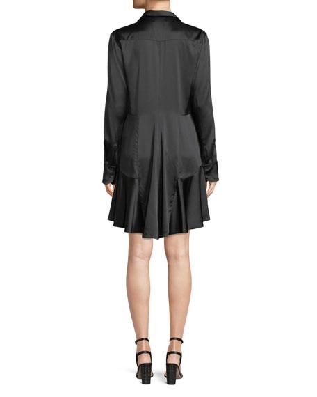 Rora Silk Button-Front Shirtdress