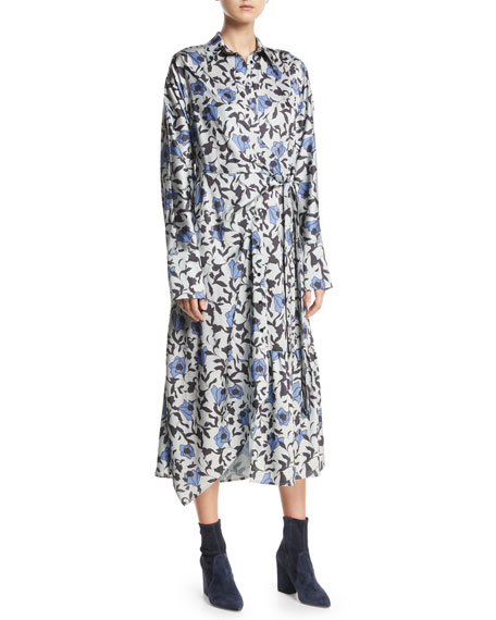 Dabba Floral-Print Button-Front Shirtdress