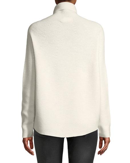 Kolkata Round-Knit Wool Turtleneck Sweater
