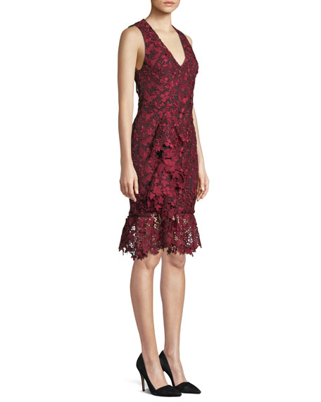 Katia Ruffle-Front Fitted Dress