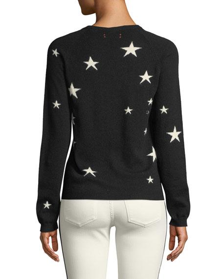 Star Cashmere Intarsia Crewneck Sweater