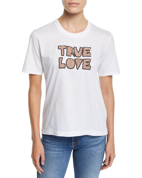 Markus Lupfer ALEX SEQUIN TRUE LOVE COTTON TEE