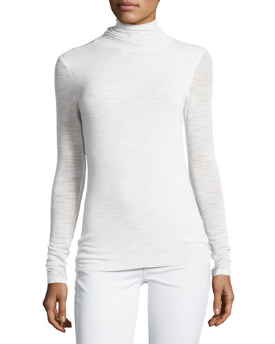 Long-Sleeve Slim Turtleneck Tee