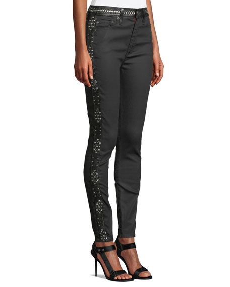 Good High-Rise Studded Ankle Skinny Jeans