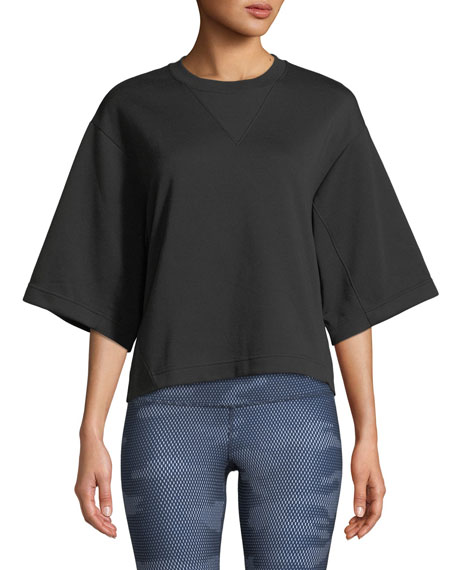 Image 1 of 1: Train Logo Cropped Pullover Top