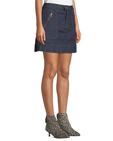 Clean Utility Denim Mini Skirt
