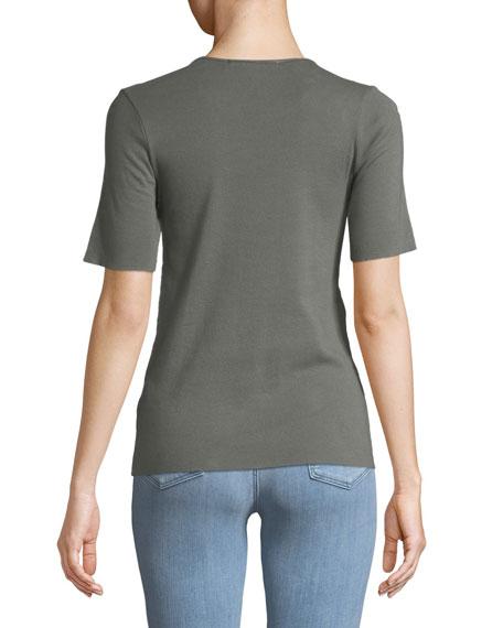 Crewneck Short-Sleeve Slim-Fit Tee