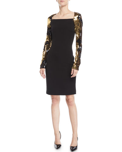 COCKTAIL DRESS WITH SEQUIN S