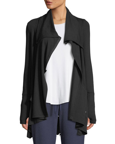 Terez DRAPED FRENCH TERRY ZIP-FRONT JACKET
