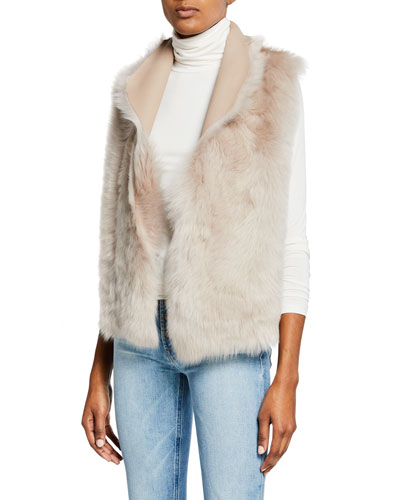 Down Reversible Rough Cut Sheepskin Vest
