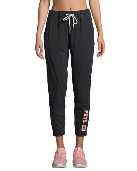 Phys. Ed Jogger Track Pants in Black
