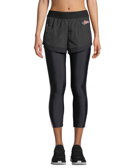 PE Nation Long Lift Two-in-One Performance Leggings with