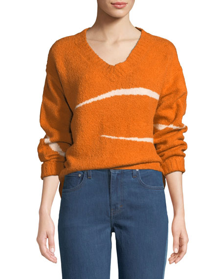 Pemba Abstract Striped Intarsia Sweater