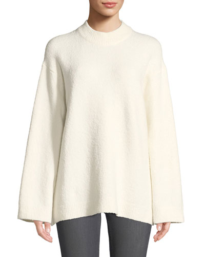 Josette Oversized Boucle Pullover Sweater
